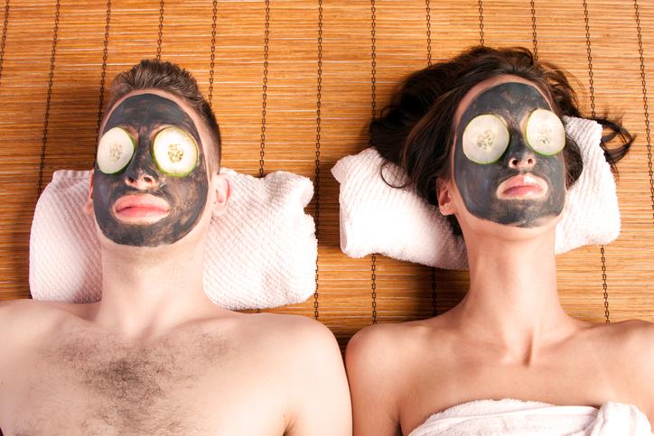 couple on a couples retreat spa