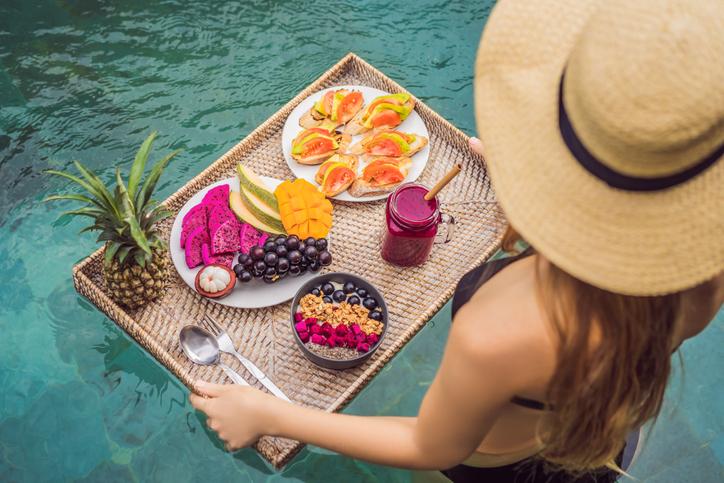 healthy breakfast food at wellness retreat