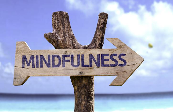 mindfulness-sign-on-beach